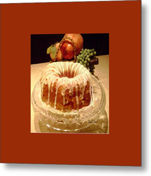 Almond Cheese Pound Cake Metal Print