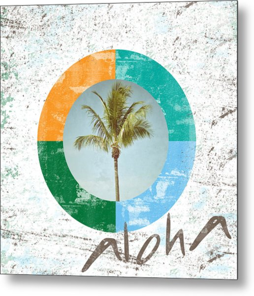 Aloha Palm Tree Metal Print