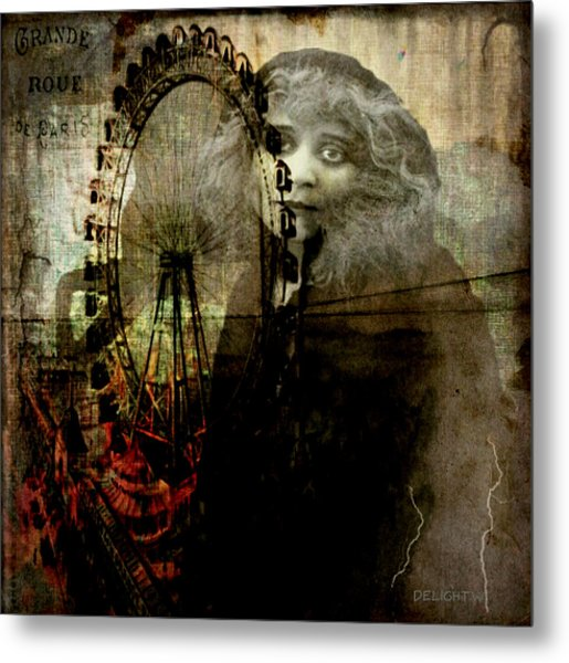 Metal Print featuring the digital art Alone At The Fair by Delight Worthyn