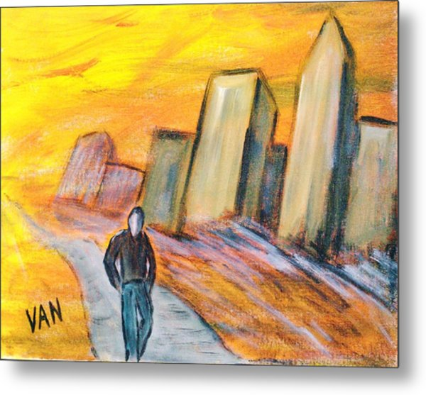 Alone In The City Metal Print