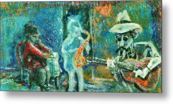 Alone With The Blues Metal Print