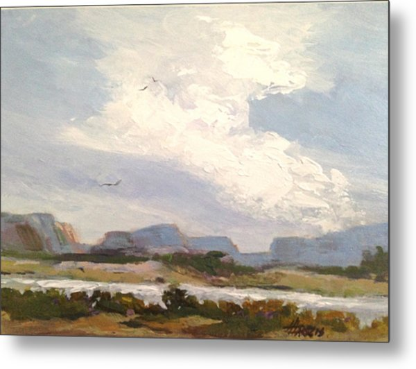 Metal Print featuring the painting Along The Columbia by Helen Harris