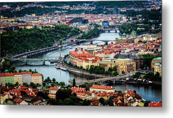 Along The Vltava River Metal Print