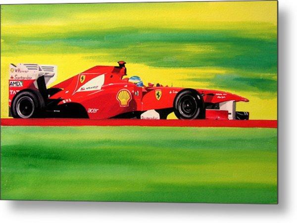 Alonso Ferrari Watercolour Metal Print