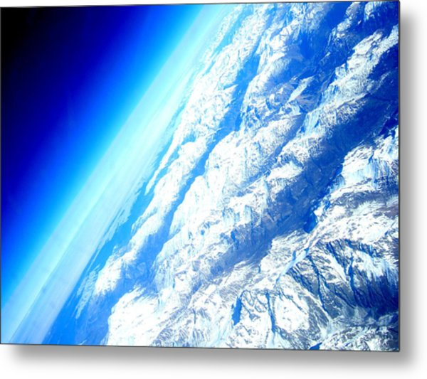 Alpen From Sky Metal Print
