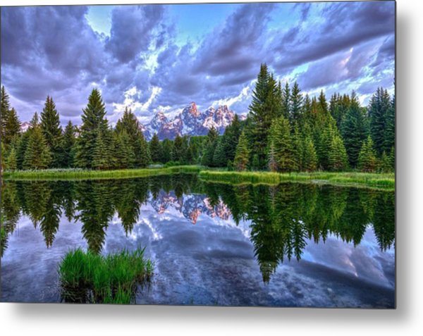 Alpenglow In The Tetons Metal Print