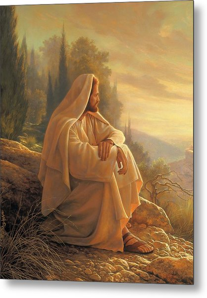 Metal Print featuring the painting Alpha And Omega by Greg Olsen