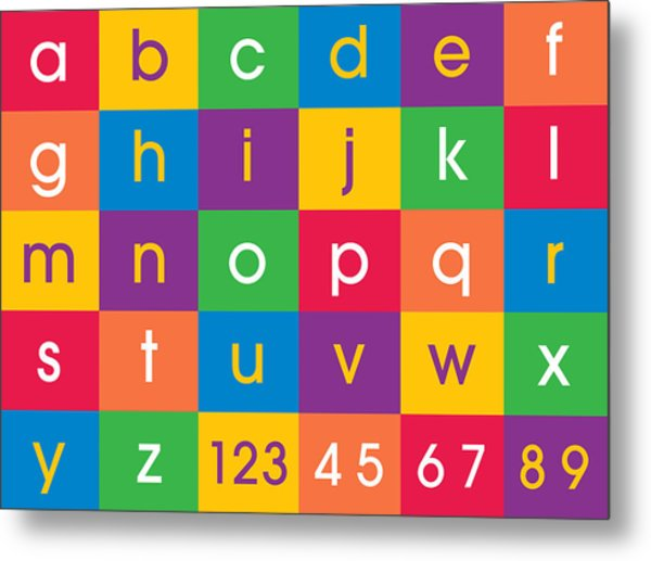 Alphabet Colors Metal Print