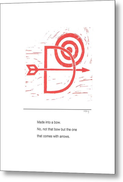 Alphabet Haiku Letter D Metal Print