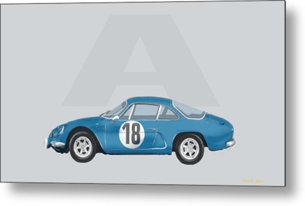 Metal Print featuring the mixed media Alpine A110 by TortureLord Art