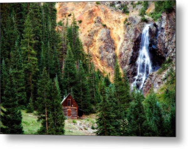 Alpine Cabin Metal Print