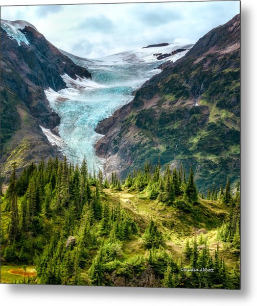 Alpine Glacier 40x40 Metal Print