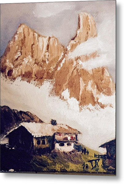 Alpine Home  Metal Print