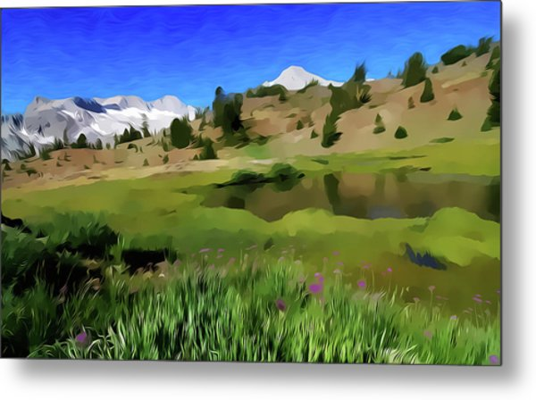Alpine Meadow By Frank Lee Hawkins Metal Print