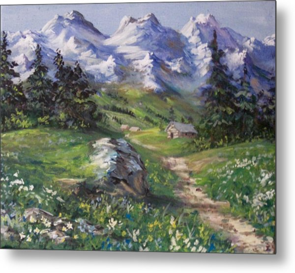 Alpine Splendor Metal Print