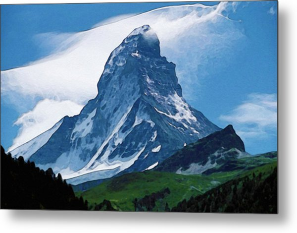 Metal Print featuring the photograph Alps by Artistic Panda