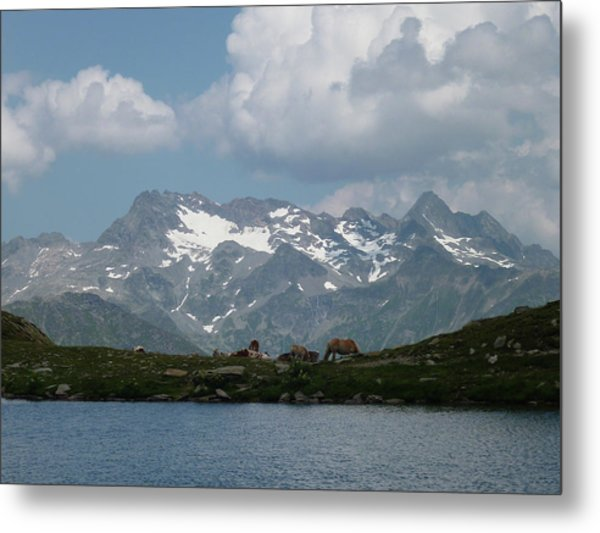 Alps Magenificence Metal Print