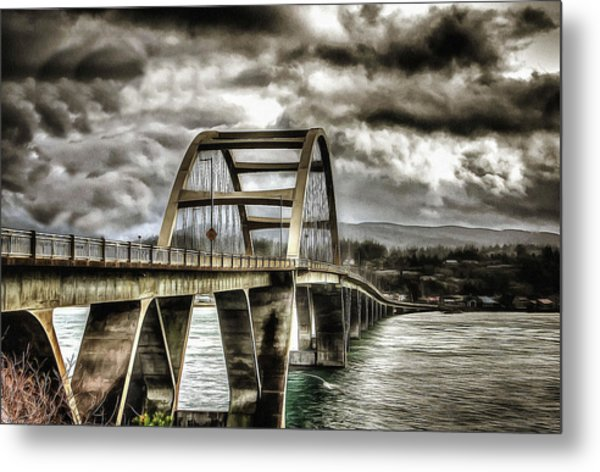 Alsea Bay Bridge Metal Print