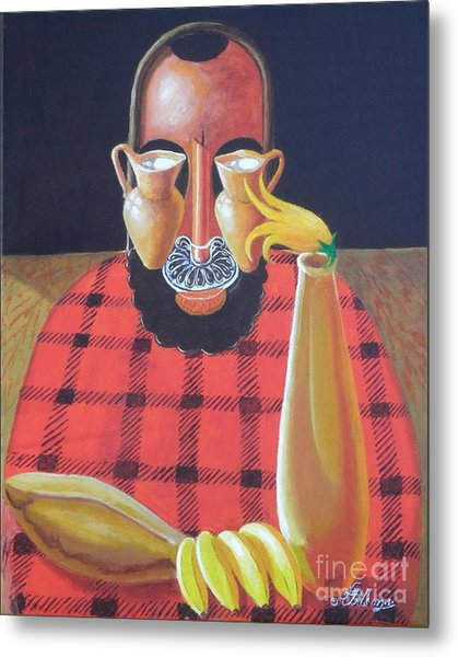 Alternative Reality In A Still Life Le Penseur Metal Print
