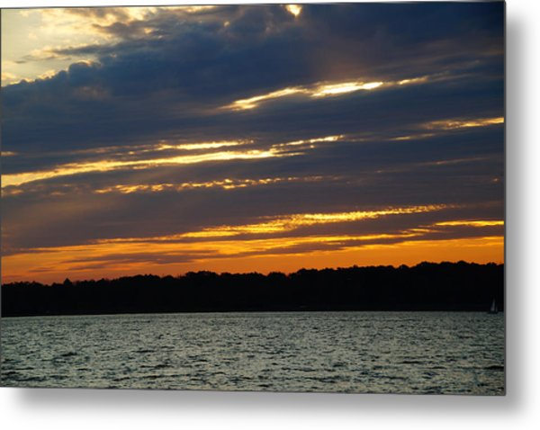Alum Creek Sunset Metal Print