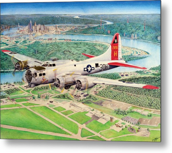 Aluminum Overcast Metal Print by Barry Munden
