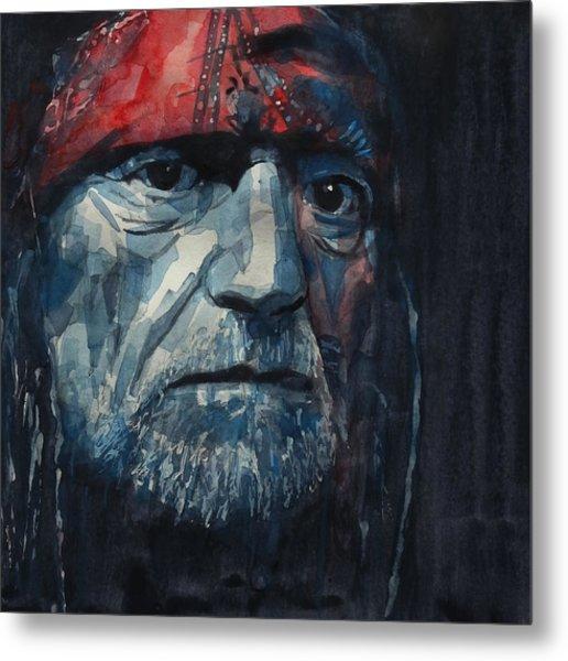 Always On My Mind - Willie Nelson  Metal Print