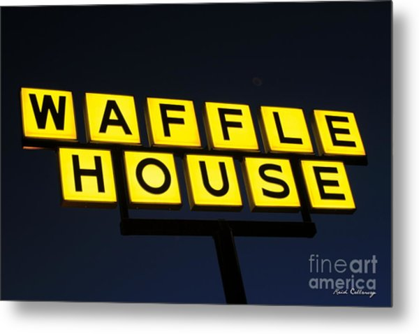 Always Open Waffle House Classic Signage Art  Metal Print