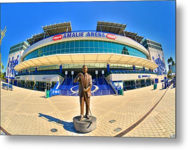 Metal Print featuring the photograph Amalie Arena by Lisa Wooten
