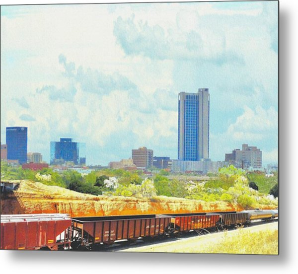 Amarillo Texas In The Spring Metal Print