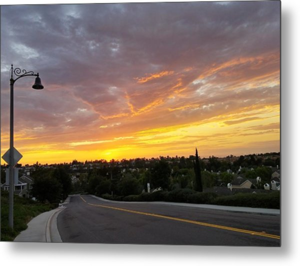 Colorful Sunset In Mission Viejo Metal Print