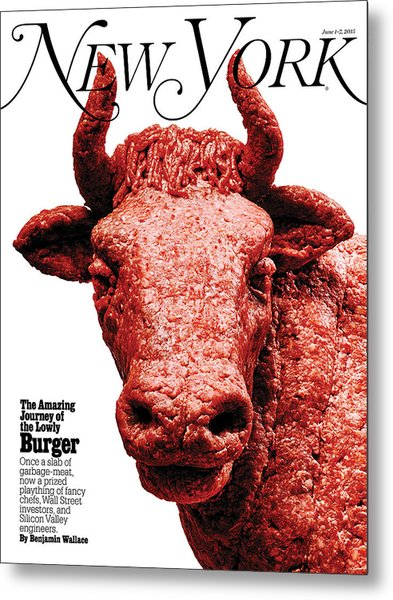 Metal Print featuring the photograph The Amazing Journey Of The Hamburger by Bobby Doherty