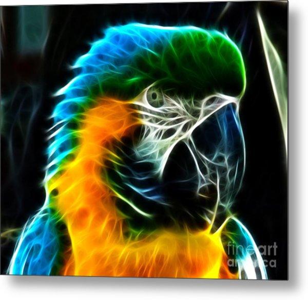 Amazing Parrot Portrait Metal Print