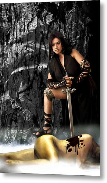 Amazon Warrior Metal Print by George Cabig