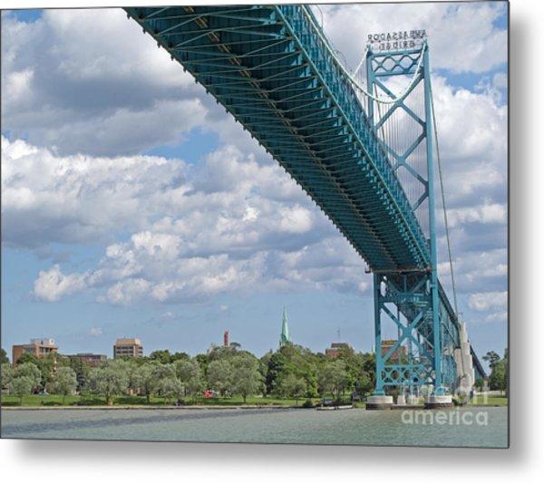 Ambassador Bridge - Windsor Approach Metal Print