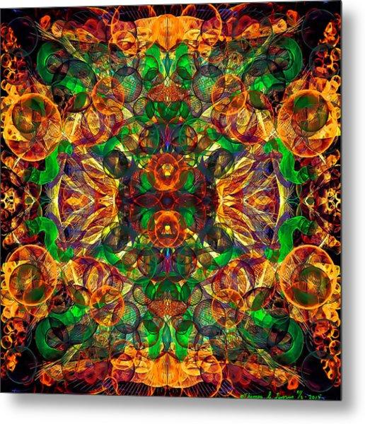 Amber Burst. Metal Print