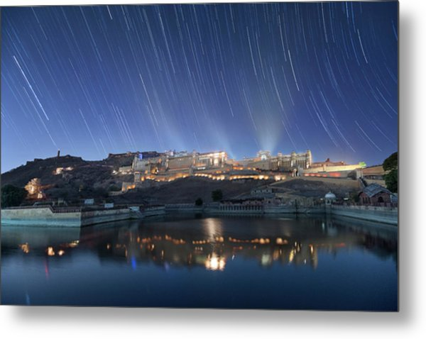 Metal Print featuring the photograph Amber Fort After Sunset by Pradeep Raja Prints