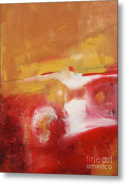 Ambers Rising Metal Print by Maria Curcic