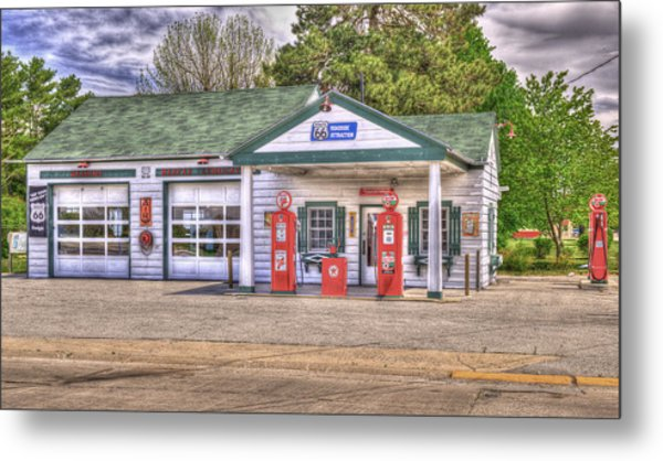 Ambler's Texaco Gas Station Metal Print