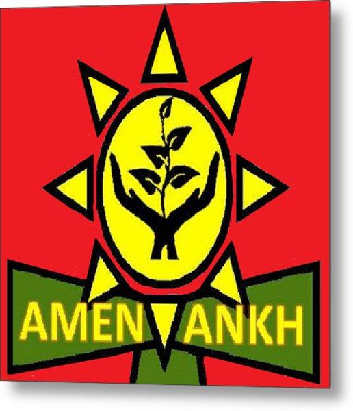 Amen Ankh Sunset Metal Print