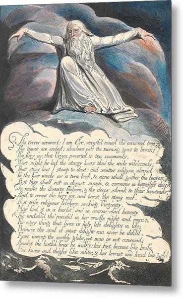 America A Prophecy, Plate 10,  Metal Print