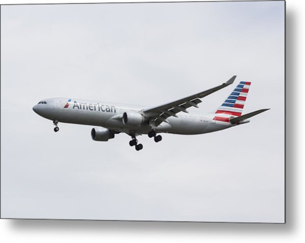 American Airlines Airbus A330 Metal Print