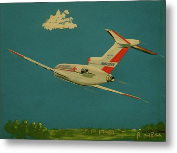 American Airlines Boeing 727 Metal Print
