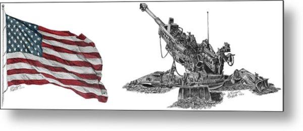American Artillery Metal Print