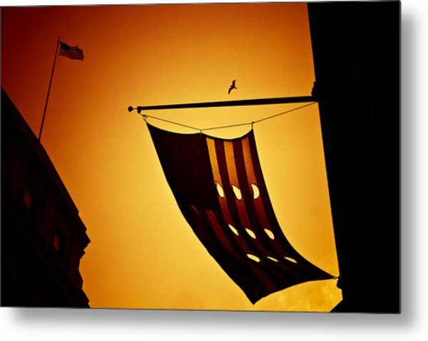 American City Sunset Metal Print by Andrew Kubica