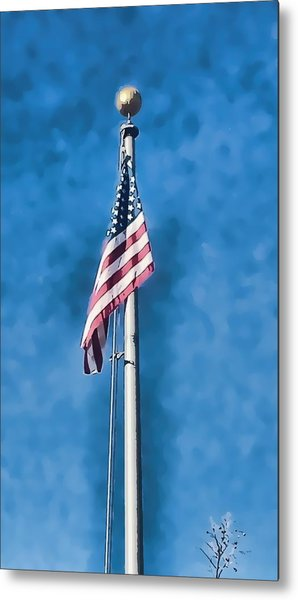 American Flag 'painted' Metal Print