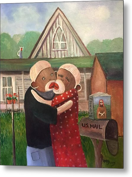 American Gothic The Monkey Lisa And The Holler Metal Print