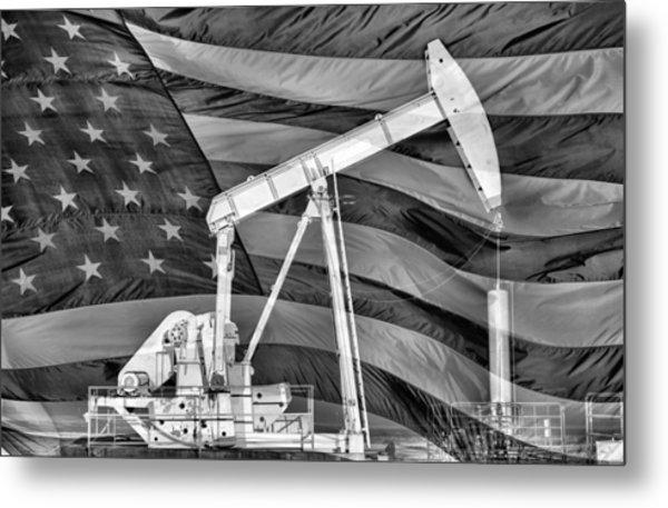 American Oil Metal Print