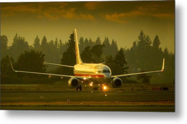 American Ready For Take-off Metal Print