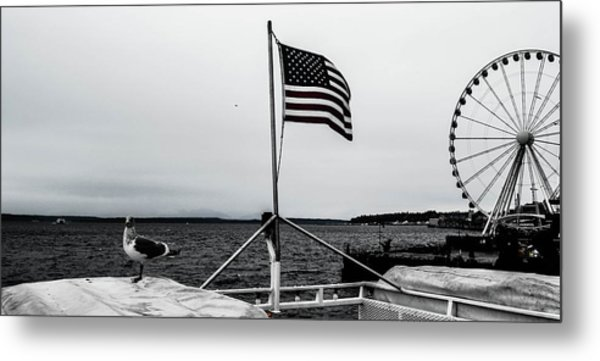 American Seattle Metal Print