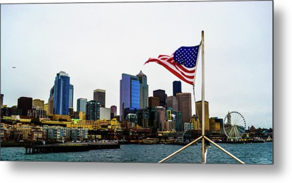 American Seattle Ic Metal Print